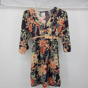 Lucky Brand Floral Kimono Dress